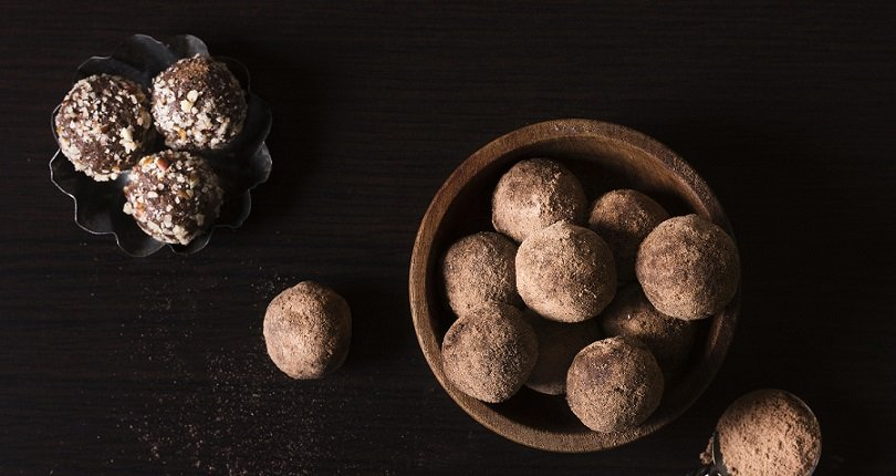 Chocolate Truffles serving in bowls